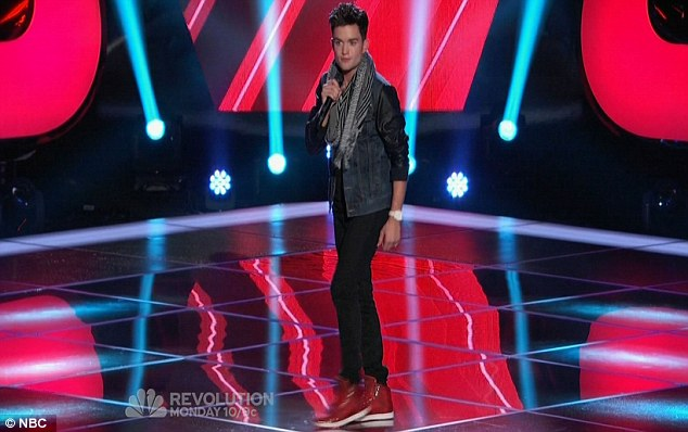 Second chance at fame: Former Dream Street boyband member Chris Trousdale sang The Wanted's Glad You Came but failed to win over the judges