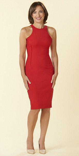 AGE 38: The red dress from Zara knocks years off Linda's age