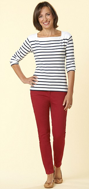 DRESS AGE 41: But Linda didn't feel she suited the Breton top and coloured jeans