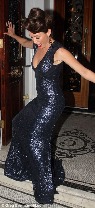 Dani Minogue leaves number 5 Cavendish Square private memebrs club in London this evening at the launch