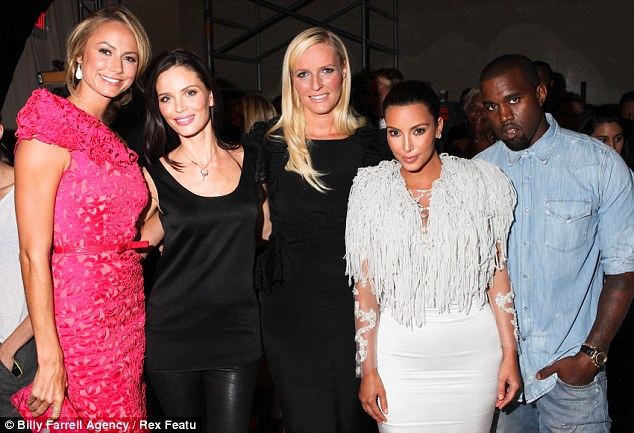 Celebrity friends: Stacey Keibler, Georgina Chapman, Keren Craig, Kim and Kanye