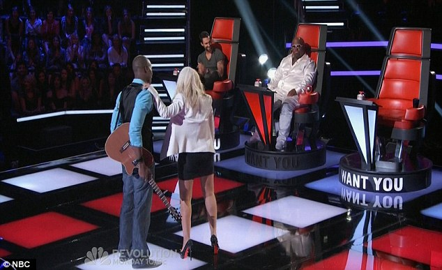 Chosen judge: Nelly's Echo chose Christina to be his mentor as she turned her chair around first