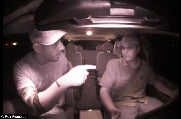 Confrontation: In images captured via a dashboard camera, a man alleged to be Kinosh argues with taxi driver Charles Hawkesworth