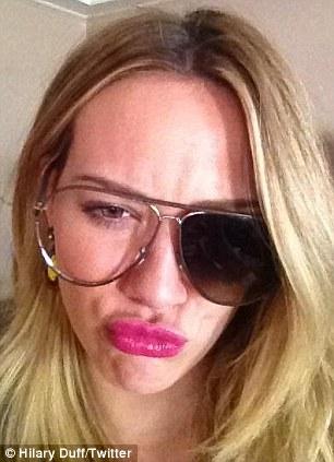 Fashion fail: Duff's favourite sunglasses broke earlier in the day