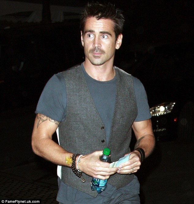 Famous face: Colin Farrell also attended the gig