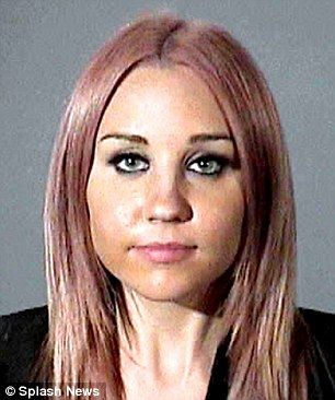 Mugshot: Amanda was arrested for an alleged DUI in Hollywood, and attempted to pass a police car but ended up sideswiping the vehicle
