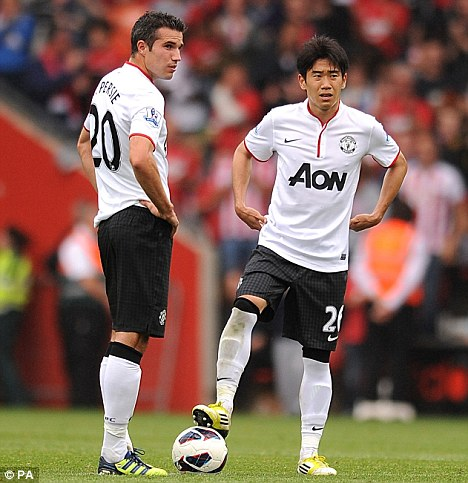 Back in action: Van Persie and Kagawa are both expected to feature
