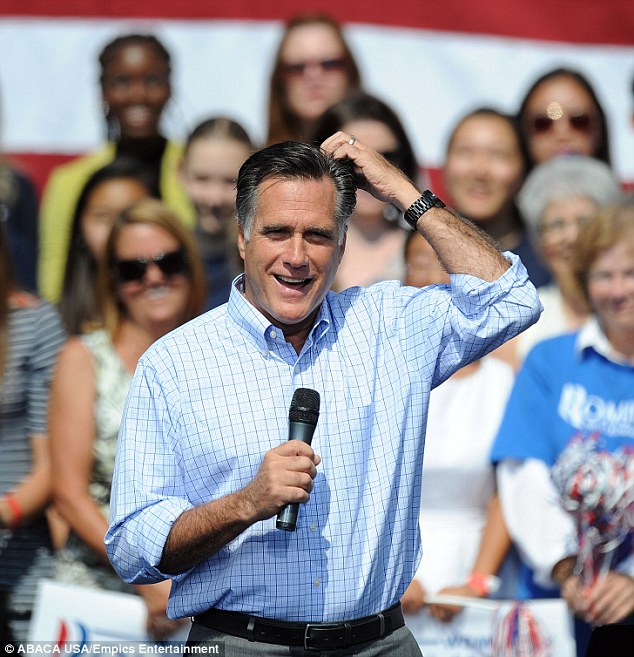 Campaign: Republican presidential candidate Mitt Romney campaigns at Van Dyck Park  in Fairfax, Virginia, and made guest appearances in new York today