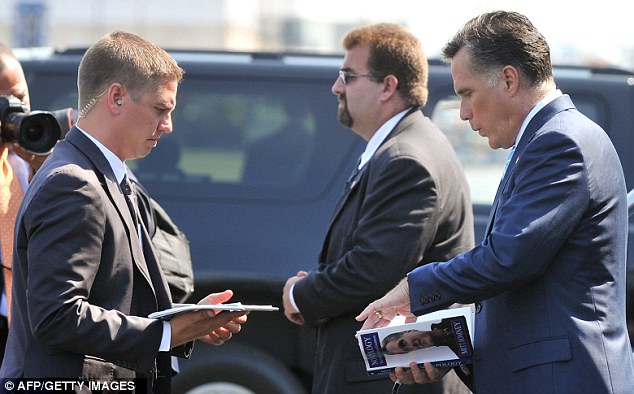 Fans: Mitt Romney departs Newark airport in New Jersey for Ohio today after speaking to Kelly Ripa with wife Ann, which will be aired on Tuesday