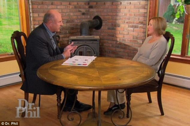 Telling her side: Dr. Phil interviewed Gristina in her New York home because she cannot leave the state