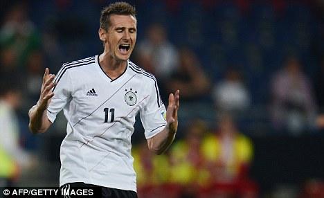 Italian job: The Germany striker is in his second season with Lazio