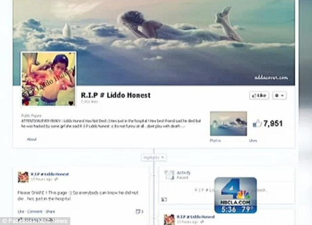 This was one of the hoax Facebook pages set up in memory of seven-year-old Javier