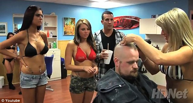 Popular: Bikini Barbers on Long Beach is doing a booming trade and unsurprisingly 87 per cent of the customers are male