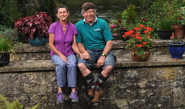 Rising returns: Balloon pilot Richard Parry and his wife Sheila built up a wide range of investments to provide a retirement income