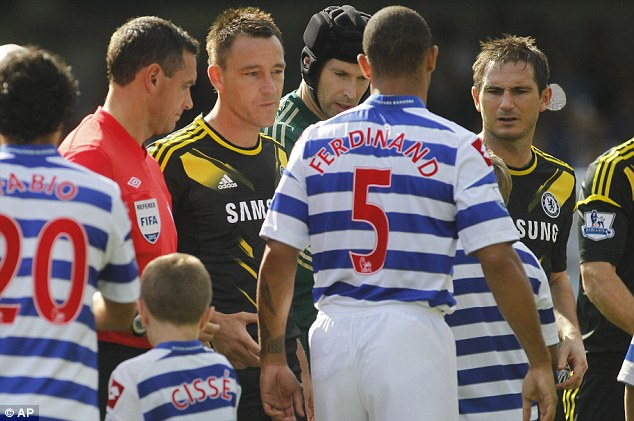 As good as it got: Anton Ferdinand's snub of John Terry was the the only real moment of drama