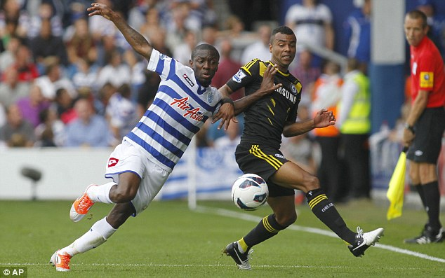 Old and the new: Former Chelsea man Shaun Wright-Phillips was unable to fire a reminder of his talents