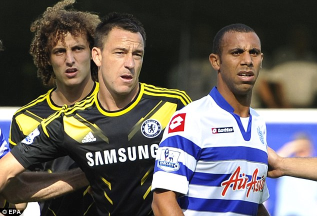 Tension: Both Terry and Ferdinand were jeered every time they touched the ball during the match