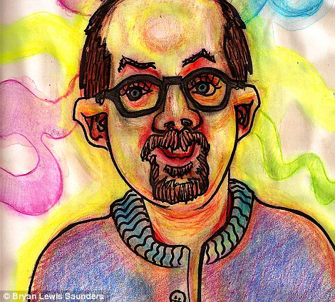 'Hash' emits a similar ecstasy, with brightly coloured swirls of crayon surrounding his balding head