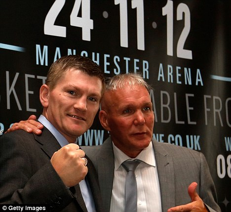 Dream team: Ricky Hatton (left) with trainer Bob Shannon