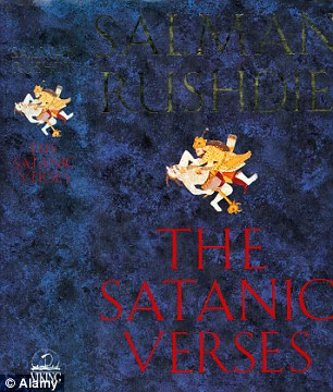 The cover of Rushdie's controversial book, The Satanic Verses