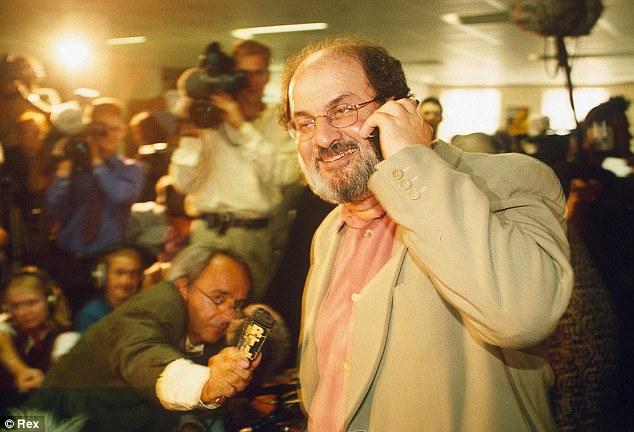 Freedom calls: Rushdie at the press conference announcing the end of the fatwa against him in September 1998