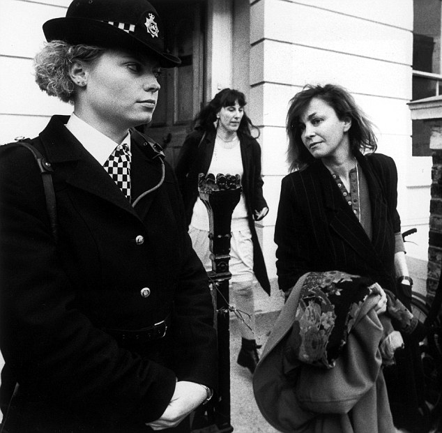 Shattered lives: Salman Rushdie's second wife Marianne Wiggins, above right, leaves the couple's London home to begin a life under police protection