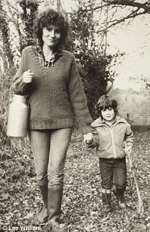 Age of innocence: Rushdie's first wife, Clarissa Luard with their son Zafar in the early Eighties