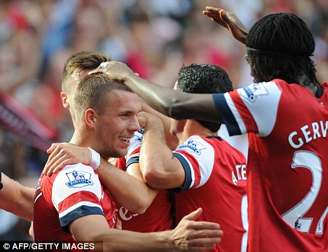 The joy of six: Arsenal will face Montpellier after thrashing Southampton