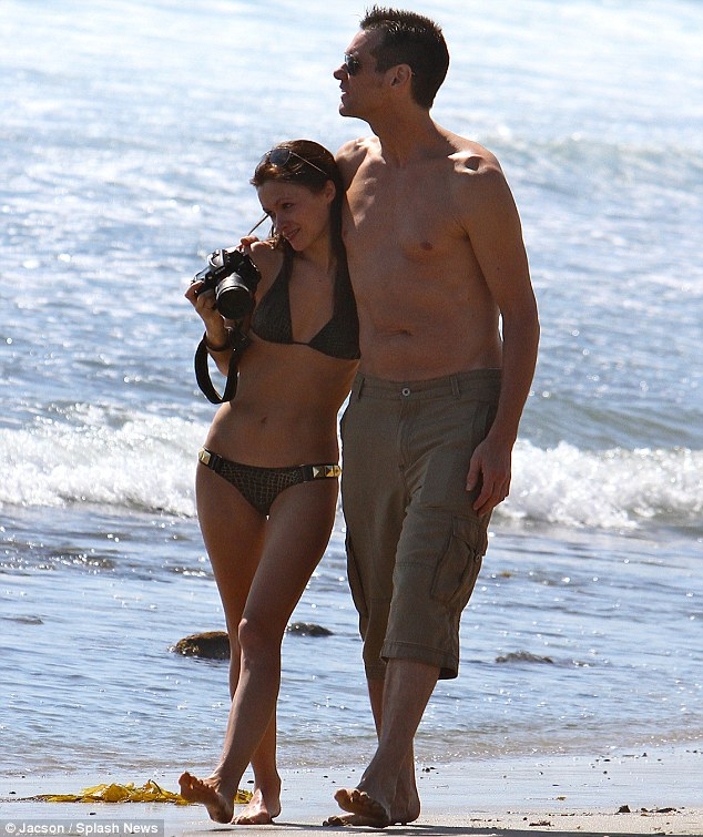 Picture perfect: Carrey was understandably enamoured with the pretty brunette
