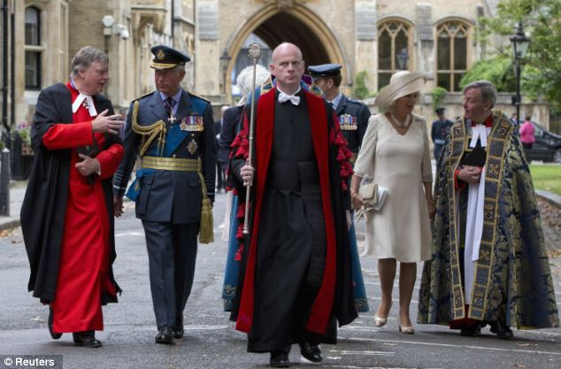 Remembrance: The service at Westminster Abbey commemorated The Battle of Britain