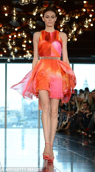 Colours were inspired by the Indian Holi street festival, which sees revellers throw brightly coloured powder over one another