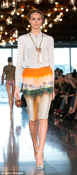 Silk blouses provided a neutral foil for prints