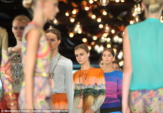 Explosion of colour: Barely a hue went unrepresented at the show