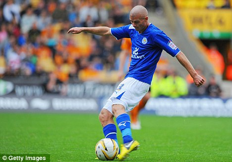Too little, too late: Paul Konchesky gets one back for Leicester
