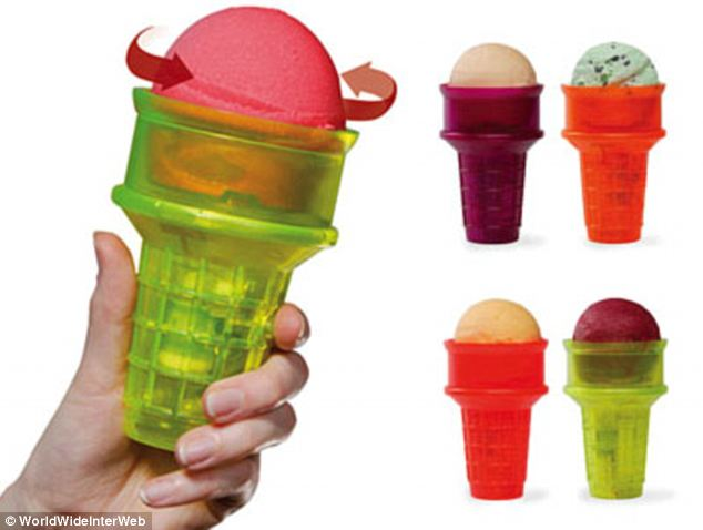 Isn't your tongue supposed to do the work of the motorized ice cream cone? Eating a scoop will never be the same again, nor as enjoyable. And what's an ice cream without a waffle cone? You might as well just have it in a bowl