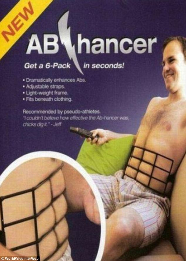 Now this is just baffling. Surely all the abhancer does is imprint painful red lines on your torso? And imagine the shame if you were discovered wearing one! Nonetheless, 'Chicks dig it,' apparently...
