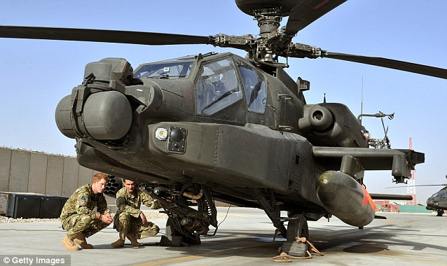 Pilot: Harry is trained to fly Apache helicopters, some of the most deadly aircraft in Afghanistan