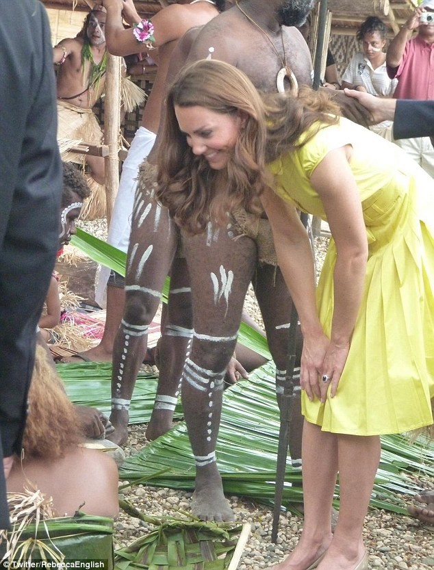 Visiting a cultural centre in the Solomon Island: Both William and Kate seemed to thoroughly enjoy their visit - a real taste of the South Pacific