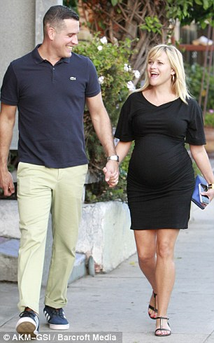 Family time: The actress with husband Jim Toth, son Deacon and daughter Ava in Venice, California, over the weekend