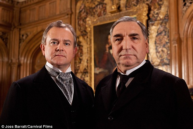 Gentlemen: Pictured are Hugh Bonneville as Earl of Grantham, Robert, and Jim Carter as Mr Carson (l-r)