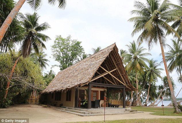 Luxury: The couple will stay in a secluded £780-a-night thatched leaf bungalow with its own private jetty from where they can go sunbathing, snorkelling and canoe paddling