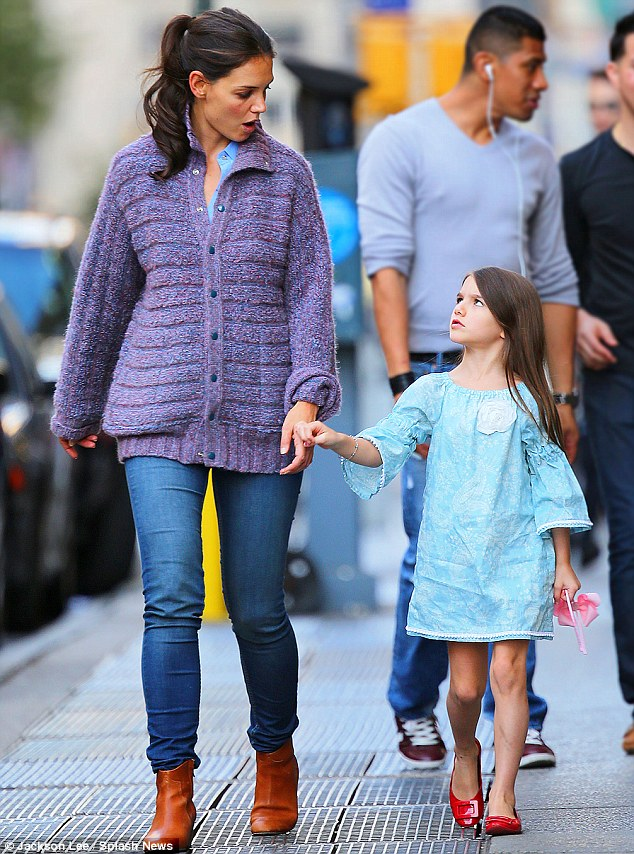 And what happened next? Walking hand-in-hand, Suri appeared to be relaying some amusing stories from school to her 33-year-old mother