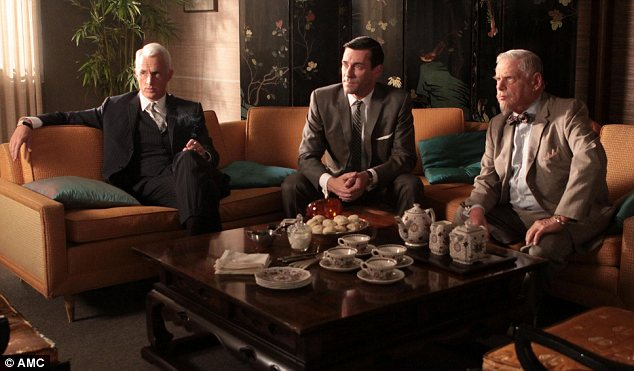 Aspirational: Millions have drooled over the lifestyle enjoyed by Mad Men characters such as Roger Sterling, Don Draper and Bert Cooper