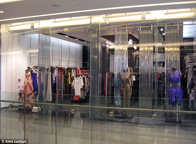 Dresses to impress: One of Amanda Wakeley's shops at Westfield shopping centre