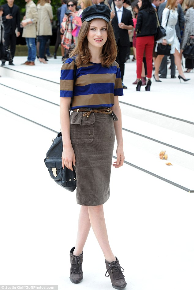 Fashion champion: Tali Lennox looked impressively stylish as she attended the Burberry Prorsum show, today, at Kensington Gardens, in London