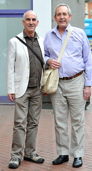 Michael Black and John Morgan pictured outside Reading County Court
