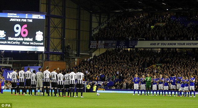 Tribute: Everton showed true class as they honoured the victims of Hillsborough before kick-off