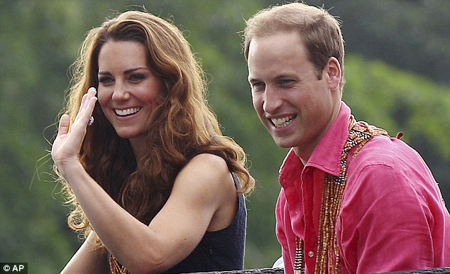 Reaction: The Duke and Duchess of Cambridge, pictured on their official visit to the Solomon Islands, have moved to prevent further publication of pictures of the Duchess sunbathing topless