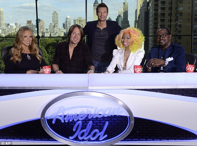 'How are we gonna feud in two days?': Mariah, who recently began work on the twelfth season of American Idol, laughed off reports that she was feuding with fellow judge Nicki Minaj