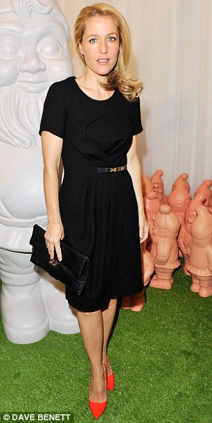 Dressed to impress: Olympic gold medallist Jessica Ennis and actress Gillian Anderson wore simple LBDs